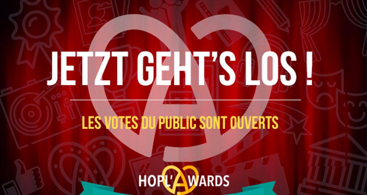 HOPL'AWARDS 2019, les récompenses culturelles en Alsace : VOTEZ !
