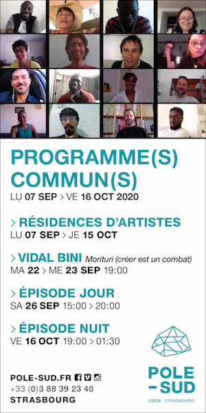 POLE SUD Strasbourg Saison 20-21 Programme(s) Commun(s) szenik